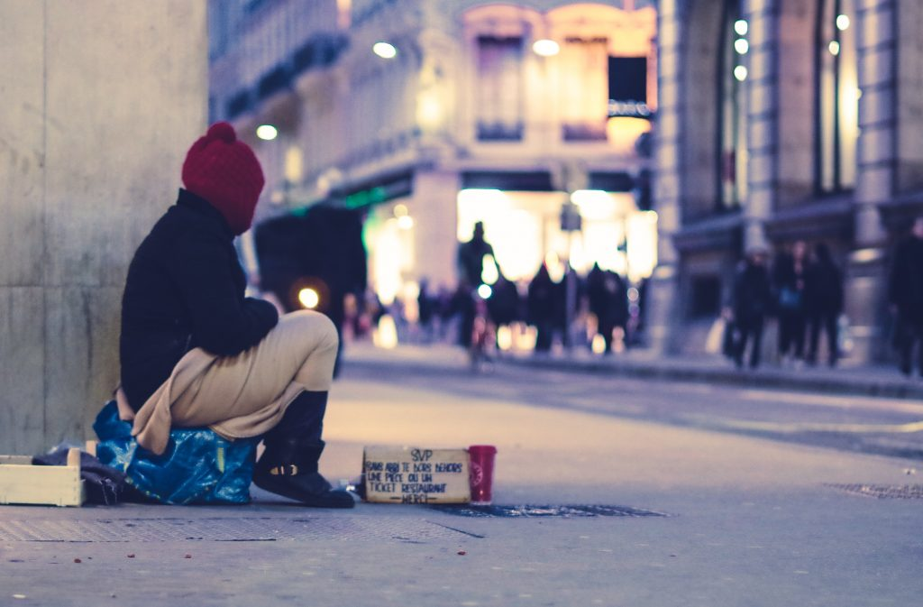 unsplash photo homeless